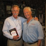Angus King with copy of Apocalypse Never